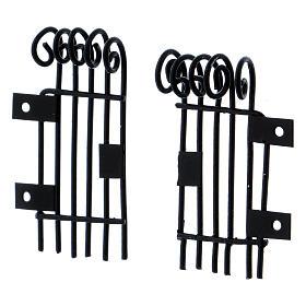 Rectangular openable Railings 3.7 h long 2 cm s2