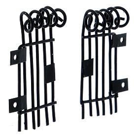Rectangular openable Railings 3.7 h long 2 cm s3