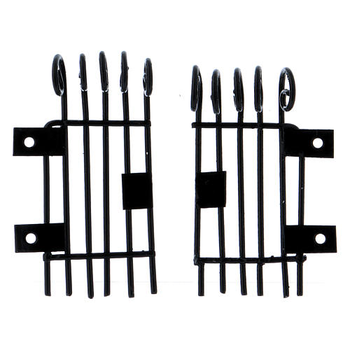 Rectangular openable Railings 3.7 h long 2 cm 1