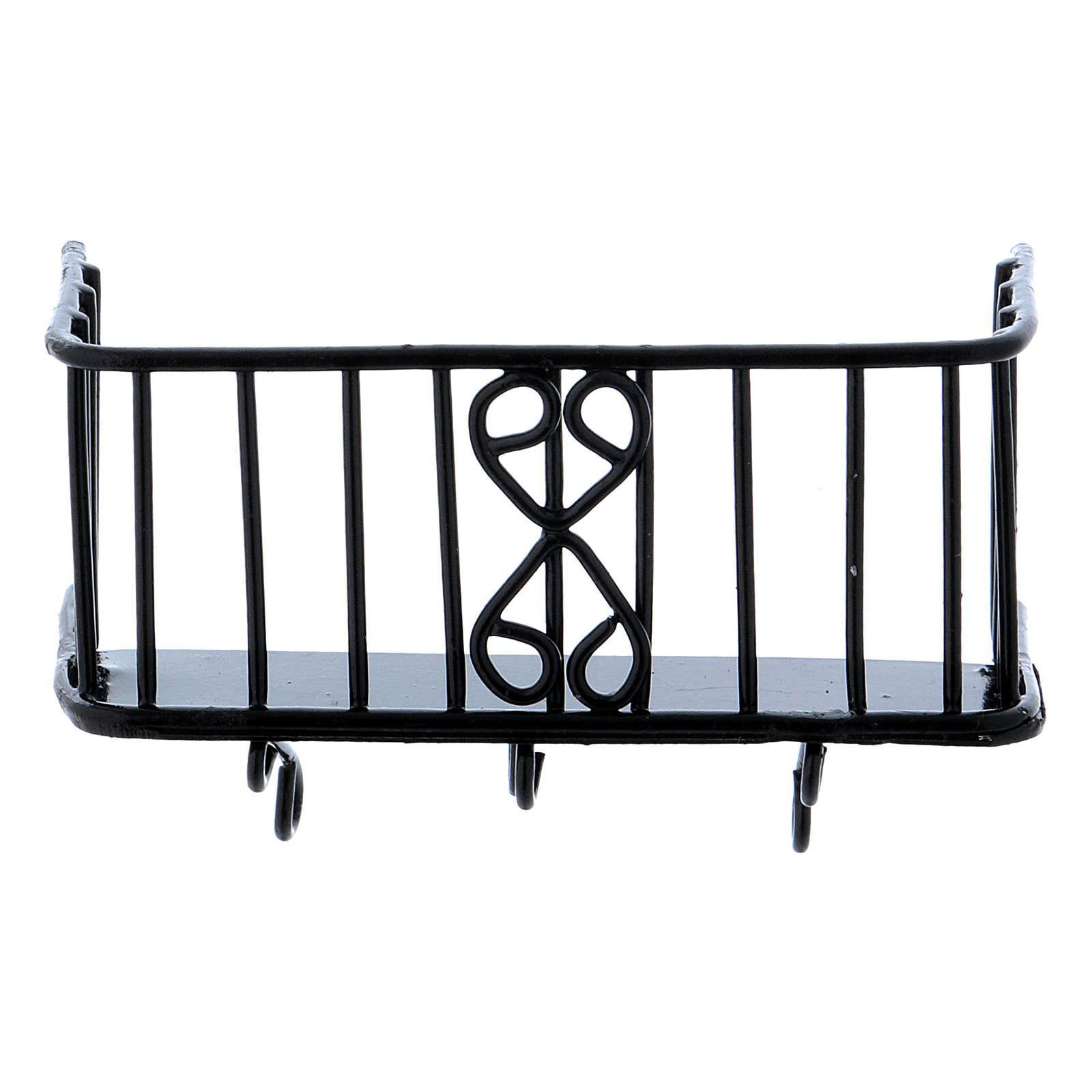 Balcón de hierro 3x5x2,5 cm 4