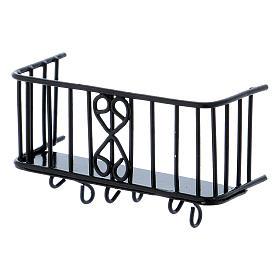 Balcón de hierro 3x5x2,5 cm s1