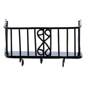 Balcón de hierro 3x5x2,5 cm s2