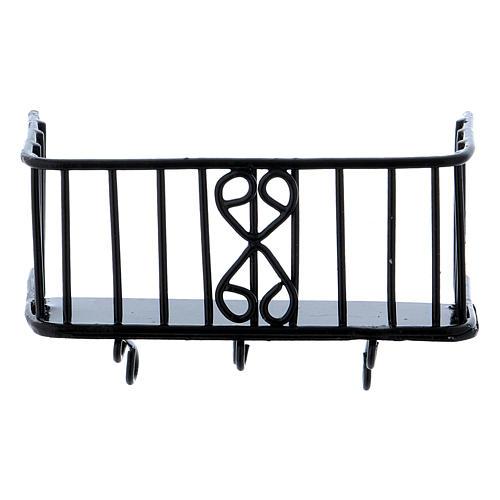 Balcón de hierro 3x5x2,5 cm 2