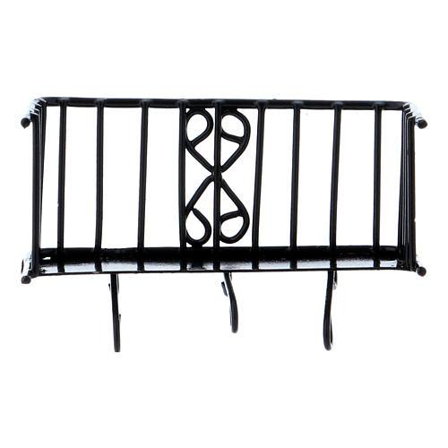 Balcón de hierro 3x5x2,5 cm 3