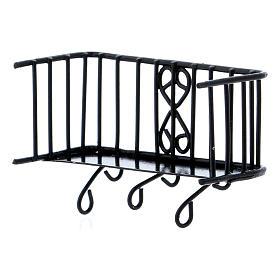 Balcone in ferro 3x5x2,5 cm s4