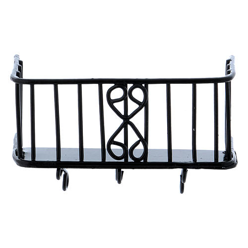 Balcone in ferro 3x5x2,5 cm 2