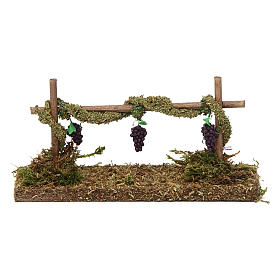 Vineyard with grapes 5x15x5 cm s4