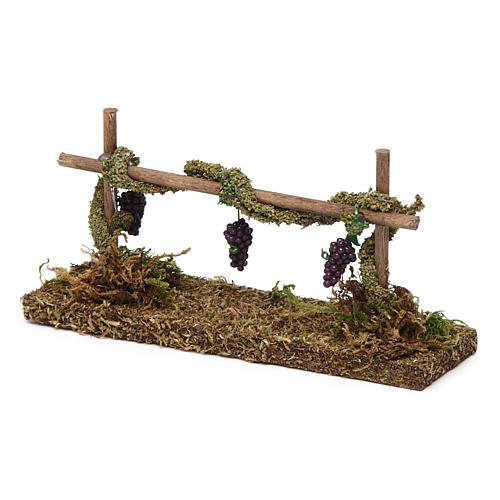 Vineyard with grapes 5x15x5 cm 2