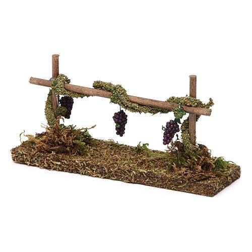 Winorośl z winogronem 5x15x5 cm 2