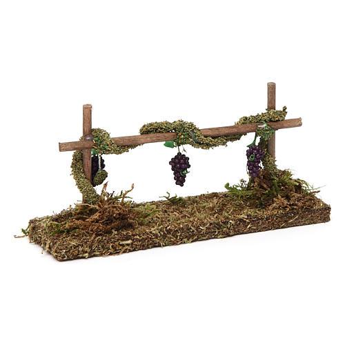 Winorośl z winogronem 5x15x5 cm 3