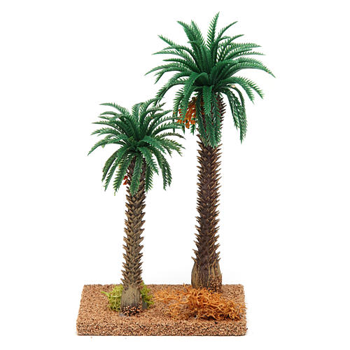 Double palm tree 20x10x5 cm 2