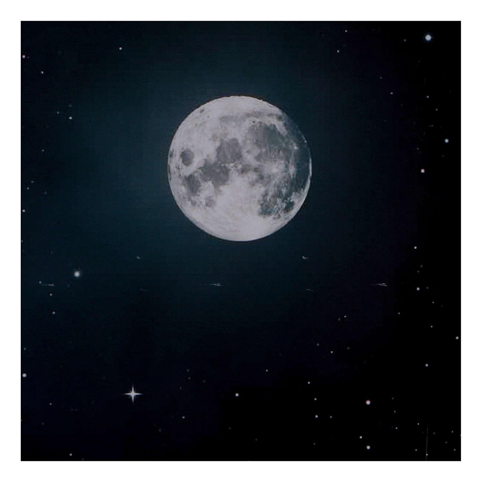 Niebo nocą z księżycem z papieru 70x100 cm 4