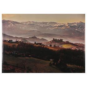 Paysage champêtre en papier 100x70 cm s1
