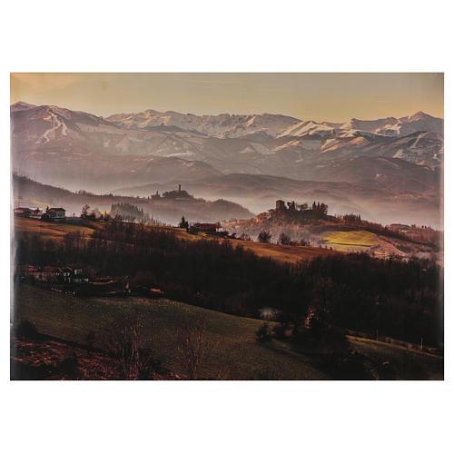 Paysage champêtre en papier 100x70 cm 1