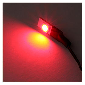 Low-voltage flat red led light s2