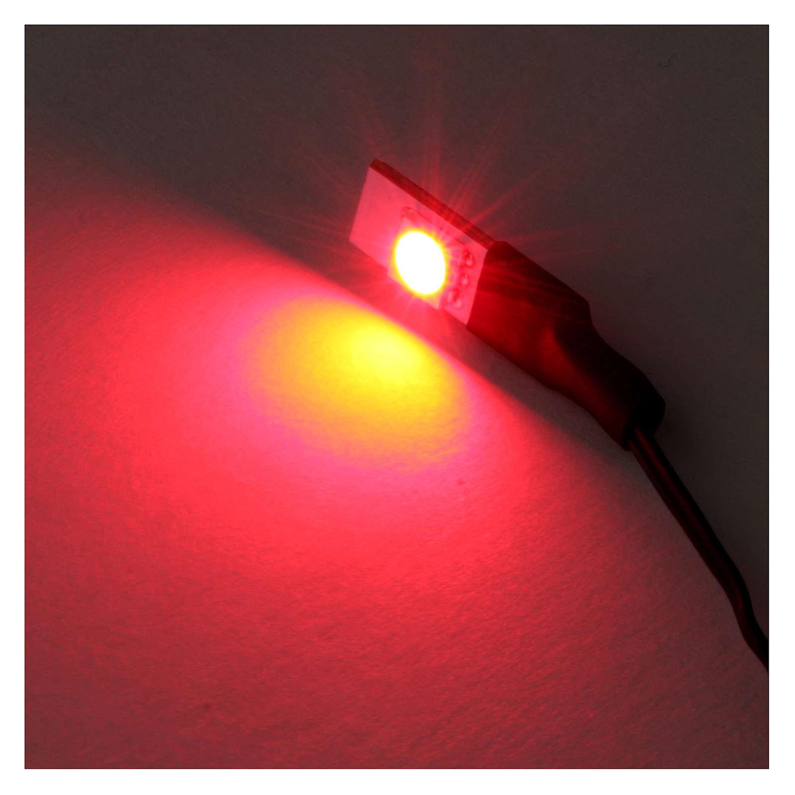 Led rosso piatto singolo a basso voltaggio 4