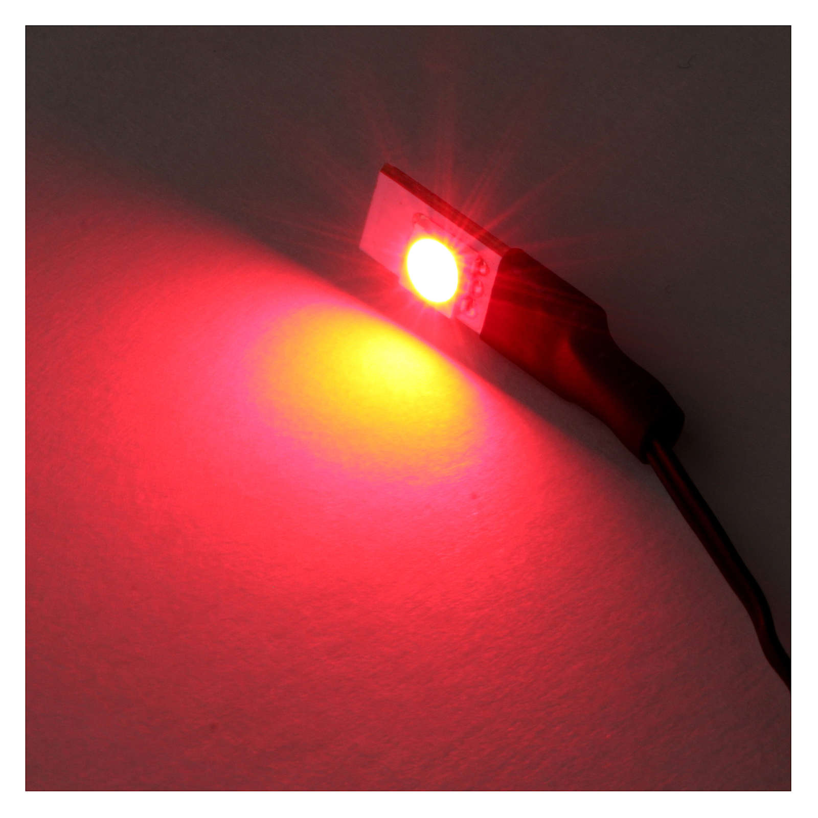 LED flat single red light low voltage 4