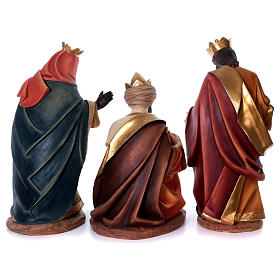 Set tre re magi per presepe in resina 100 cm s6