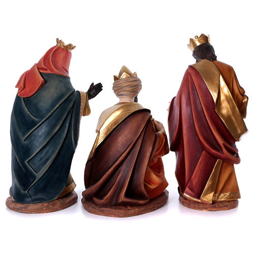 Set tre re magi per presepe in resina 100 cm 6