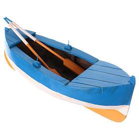 Small boat in wood for Nativity Scene 12 cm s3