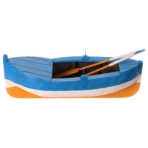 Small boat in wood for Nativity Scene 12 cm 1