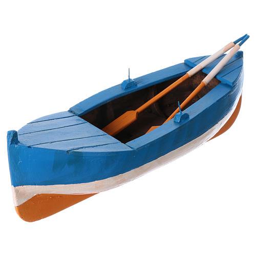 Small boat in wood for Nativity Scene 12 cm 2