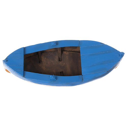 Small boat in wood for Nativity Scene 12 cm 5