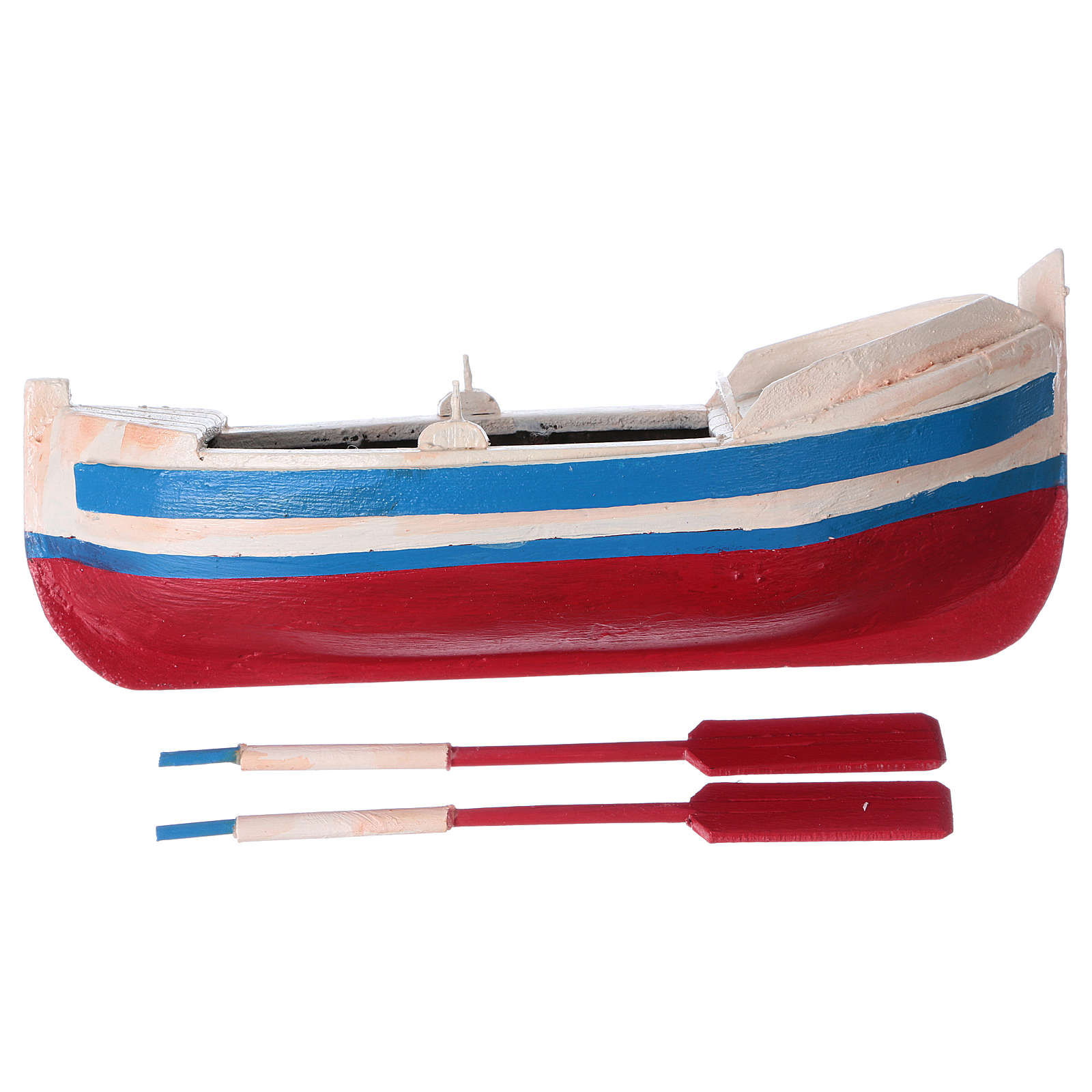 Barca gozzo presepe statuina 10 cm 4