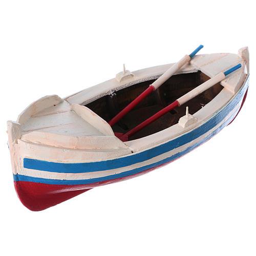 Barca gozzo presepe statuina 10 cm 2