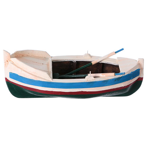 White and blue boat for Nativity Scene 10 cm 1