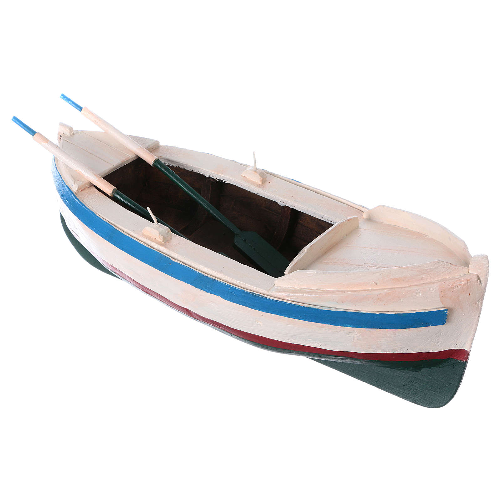Barca legno colorato presepe pastore 12 cm 4