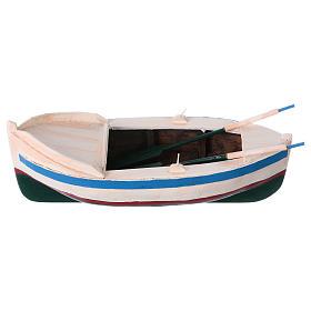 Barca legno colorato presepe pastore 12 cm s1