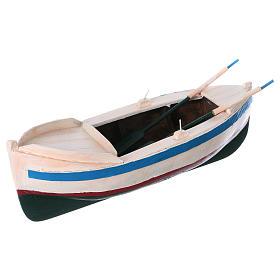 Barca legno colorato presepe pastore 12 cm s2
