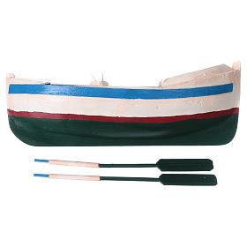 Barca legno colorato presepe pastore 12 cm s4