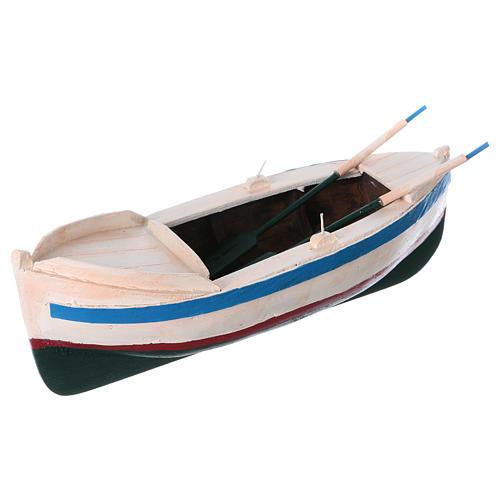 Barca legno colorato presepe pastore 12 cm 2
