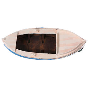 Painted boat for Nativity Scene 12 cm s5