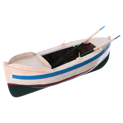 Painted boat for Nativity Scene 12 cm 2