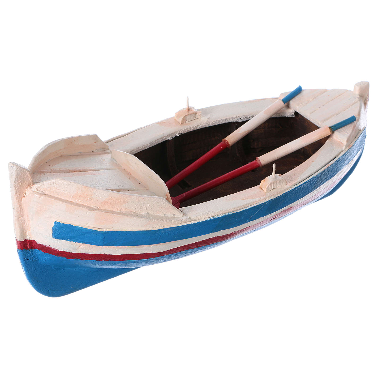 Painted boat for Nativity Scene 10 cm 4