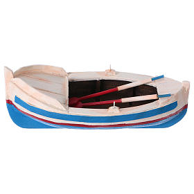 Painted boat for Nativity Scene 10 cm s1