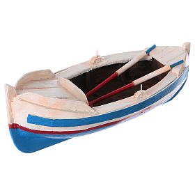 Painted boat for Nativity Scene 10 cm s2
