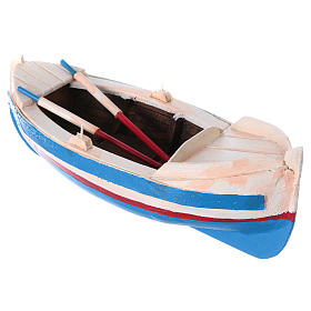 Painted boat for Nativity Scene 10 cm s3