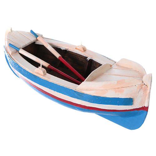 Painted boat for Nativity Scene 10 cm 3