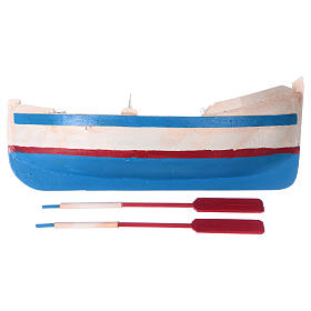 Painted rowboat for Nativity Scene 12 cm s4