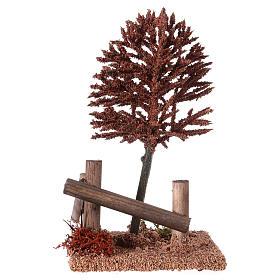 Albero rosso per presepe 15x10x10 cm s3