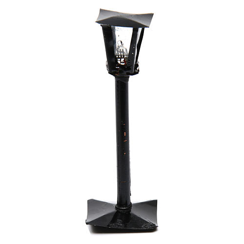 Streetlight with lantern for DIY Nativity Scene real height 11 cm - 12V 1