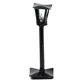 Réverbère avec lanterne bricolage crèche h réelle 11 cm - 12V s1