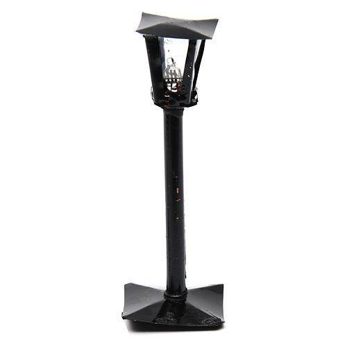 Réverbère avec lanterne bricolage crèche h réelle 11 cm - 12V 1