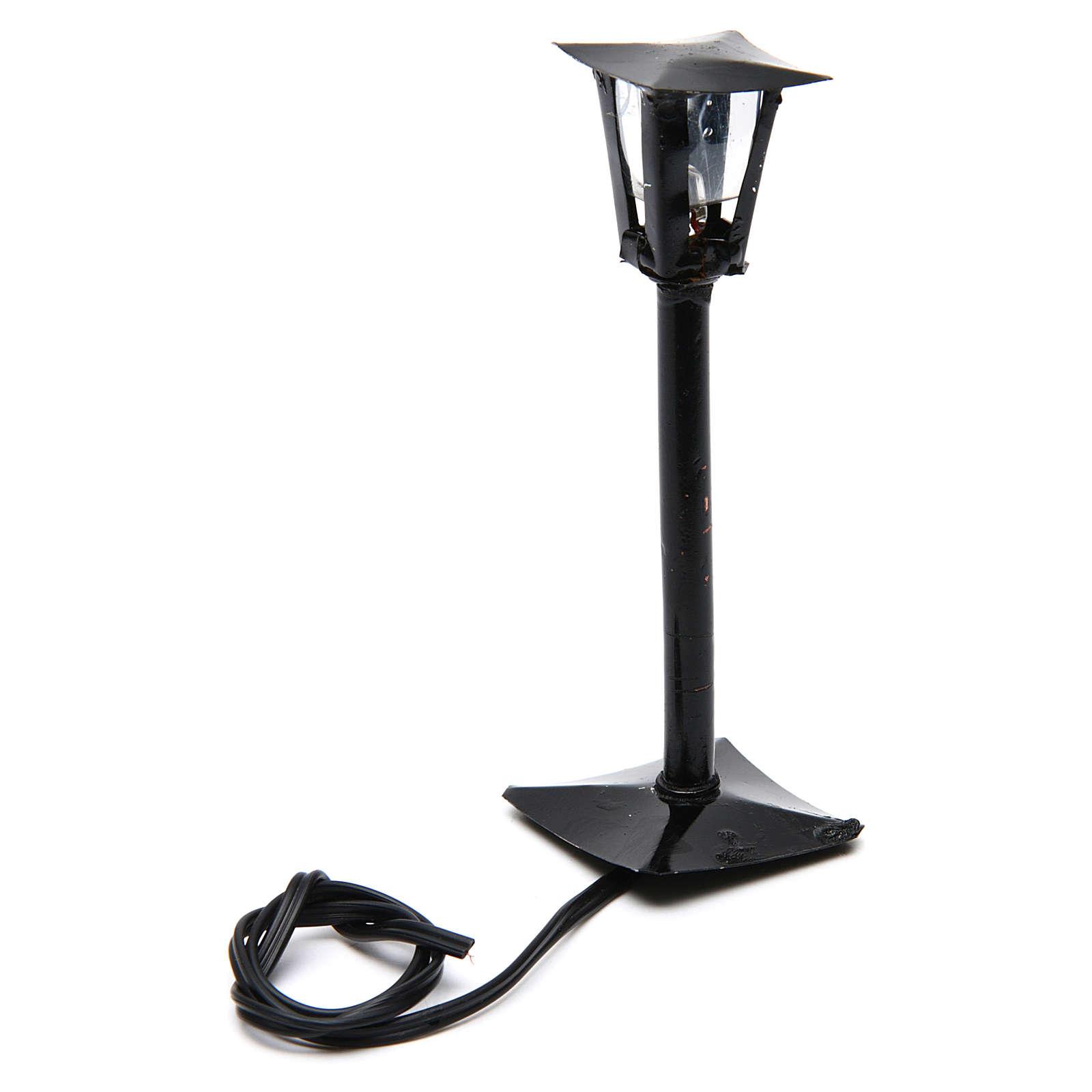 Lampione da strada con lanterna presepe fai da te h reale 11 cm - 12V 4