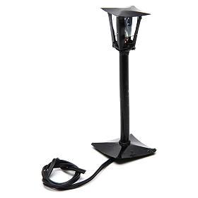 Lampione da strada con lanterna presepe fai da te h reale 11 cm - 12V s2