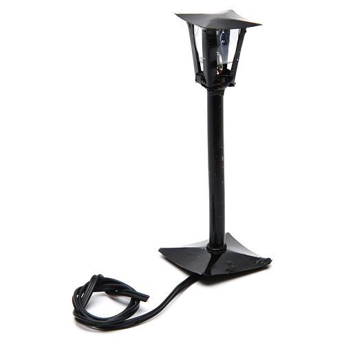 Lampione da strada con lanterna presepe fai da te h reale 11 cm - 12V 2